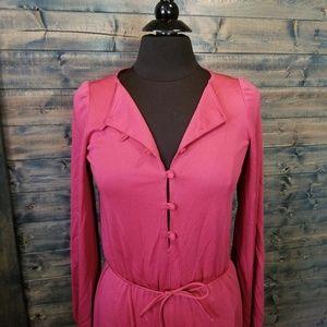 Vintage 70s Jumpsuit lounge wear rose pink